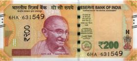 Indien / India P.neu 200 Rupien 2018 (1)