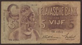 Ndl. Indien / Netherlands Indies P.078 5 Gulden 1939 (4)