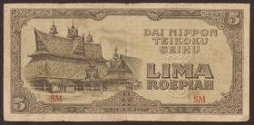 Ndl. Indien / Netherlands Indies P.130 5 Rupien (1944) (4)