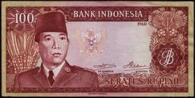 Indonesien / Indonesia P.086a 100 Rupien 1960 (3+)