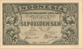 Indonesien / Indonesia P.031 10 Rupien 1947 (1)
