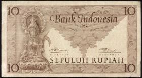 Indonesien / Indonesia P.043b 10 Rupien 1952 (3+)