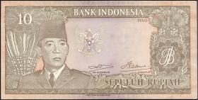 Indonesien / Indonesia P.083 10 Rupien 1960 (2)