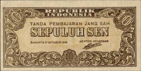 Indonesien / Indonesia P.015b 10 Sen 1945 (1)