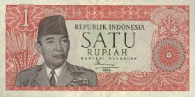 Indonesien / Indonesia P.080b 1 Rupie 1964 (1)