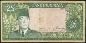 Indonesien / Indonesia P.084a 25 Rupien 1960 (3)