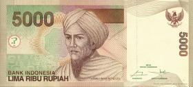 Indonesien / Indonesia P.142n 5000 Rupien 2014 (1)