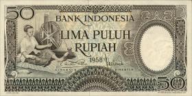 Indonesien / Indonesia P.058 50 Rupien 1958 (1)
