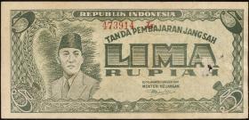 Indonesien / Indonesia P.021 5 Rupien 1947 (4)