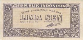 Indonesien / Indonesia P.014 5 Sen 1945 (1)