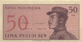 Indonesien / Indonesia P.094 50 Sen 1964 (1)