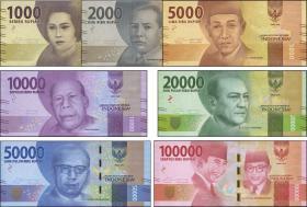 Indonesien / Indonesia P.154-160 1000 - 100000 Rupien 2016 (7 Werte) (1)