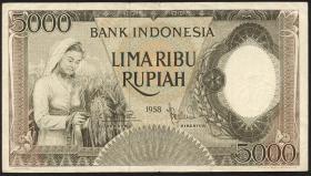 Indonesien / Indonesia P.063 5000 Rupien 1958 (3)