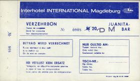 Interhotel International Magdeburg Verzehrbon 20 DM (1)