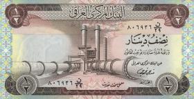 Irak / Iraq P.062 1/2 Dinar (1973) (1)