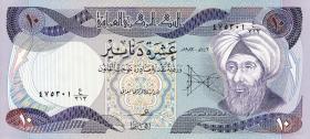 Irak / Iraq P.071 10 Dinars 1980-82 (1)