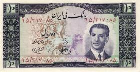 Iran P.054 10 Rials (1951) (2+)