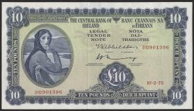 Irland / Ireland P.66c 10 Pounds 1975 (1/1-)