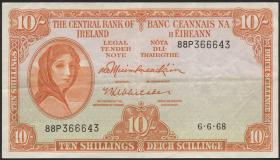 Irland / Ireland P.63a 10 Shillings 1968 (3)