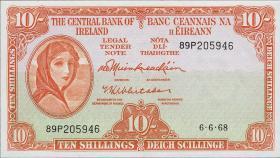 Irland / Ireland P.63a 10 Shillings 1962 (2)