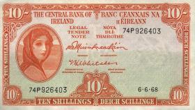 Irland / Ireland P.63a 10 Shillings 1968 (1)