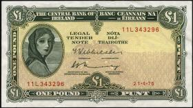 Irland / Ireland P.64c 1 Pound 1975 (2)