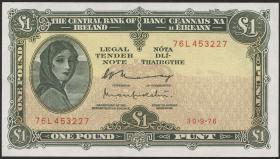 Irland / Ireland P.64d 1 Pound 1976 (1/1-)
