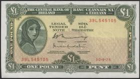 Irland / Ireland P.64d 1 Pound 1976 (1)