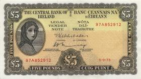 Irland / Ireland P.65c 5 Pounds 1975 (1/1-)