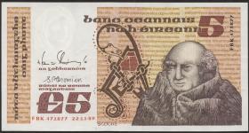 Irland / Ireland P.71e 5 Pounds 1989 (2)