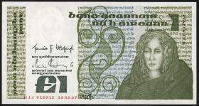 Irland / Ireland P.70c 1 Pound 1987 (1)