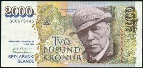 Island / Iceland P.57 2000 Kronen 1986 (1995) (3+)