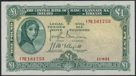 Irland / Ireland P.57b2 1 Pound 1951 (2)