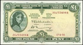 Irland / Ireland P.64b 1 Pound 1970 (2)