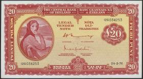 Irland / Ireland P.67c 20 Pounds 1976 (2)