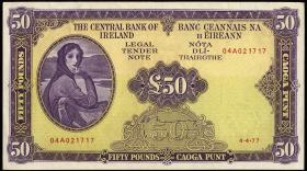 Irland / Ireland P.68c 50 Pounds 1977 (2)