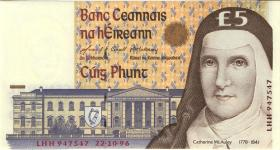 Irland / Ireland P.75b 5 Pounds 1996 (1)