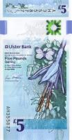 Nordirland / Northern Ireland, Ulster Bank P.neu 5 Pounds 2018 Polymer (1)