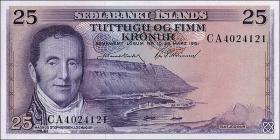 Island / Iceland P.43 25 Kronen 1961 (1)