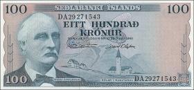 Island / Iceland P.44 100 Kronen 1961 (1)