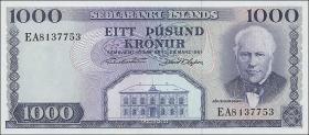 Island / Iceland P.46 1000 Kronen 1961 (1)