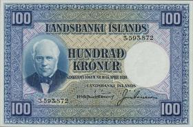 Island / Iceland P.35a 100 Kronen L. 1928 (1)