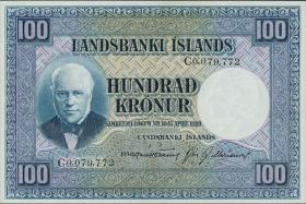 Island / Iceland P.35b 100 Kronen L. 1928 (1)