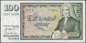 Island / Iceland P.54 100 Kronen 1986 (1994) (1)