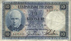 Island / Iceland P.28a 10 Kronen L. 1928 (3)