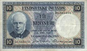 Island / Iceland P.28c 10 Kronen L. 1928 (3)