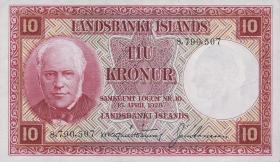 Island / Iceland P.33a 10 Kronen L. 1928 (1)