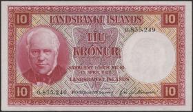 Island / Iceland P.33b 10 Kronen L. 1928 (1)