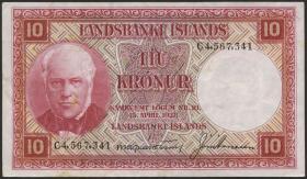 Island / Iceland P.33b 10 Kronen L. 1928 (3+)