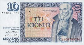 Island / Iceland P.48 10 Kronen 1961 (1981) (1)